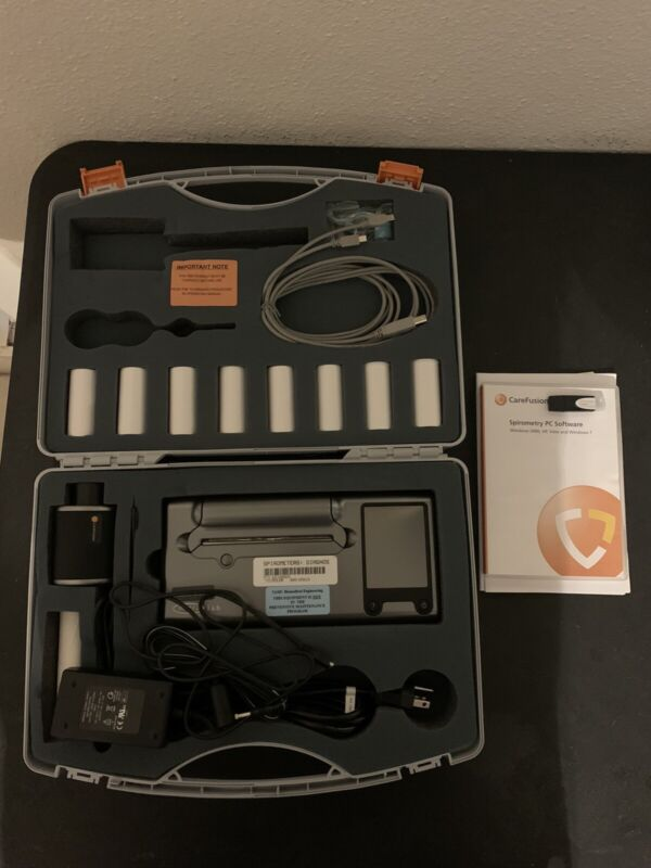 MICROLAB CAREFUSION Spirometer With Case, Software, And More 30 Day Warranty