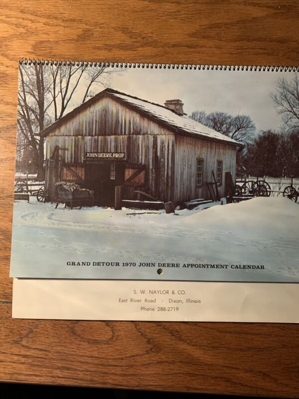 John Deere Grand Detour 1970 Calendar