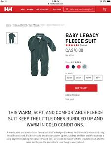 Onesie Fleece Helly Hansen - Brand New