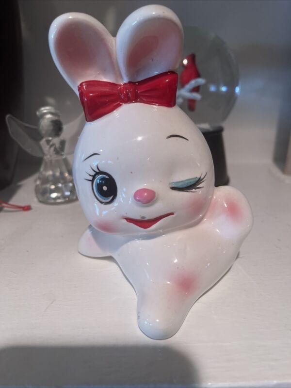 Vintage Rune Natio Ceramic Bunny Bank