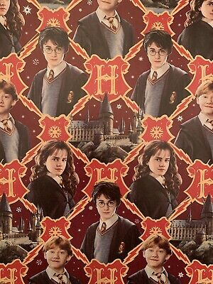 Harry Potter Holiday Wrapping Paper XMAS Gift Wrap NEW Rare 70 or 35 sq ft Holiday Gift Wrap