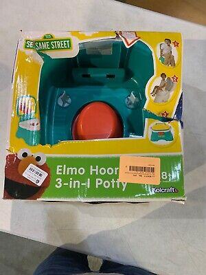 Sesame Street Elmo Hooray 3 In 1 Potty Chair Toilet Trainer Open Box