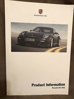 2008 Porsche 997 911 GT2 Turbo Product Information Book Rare Lightly Used NLA