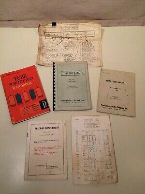 Vintage Tube Test Data Literature For Precision Model 640660 Tube Tester
