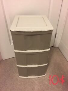 storage bin - 3 drawers