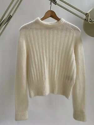 ACNE STUDIOS DANIA MOHAIR cream sweater women's SMALL