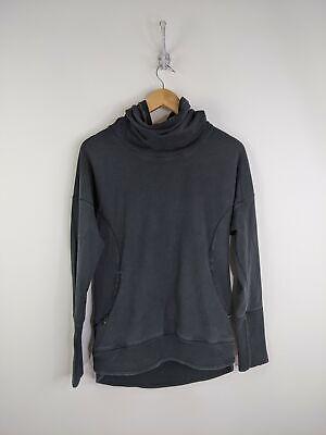 Lululemon Cowl Neck Sweater Women Large Black Pullover Athletic Yoga Activewear