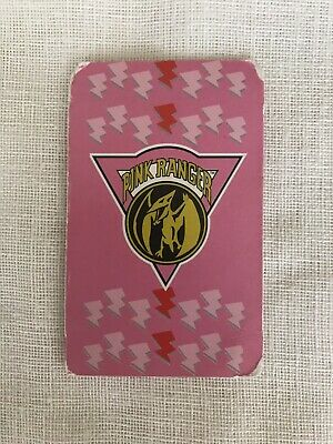 CARTA POWER RANGERS CARD - POWER RANGER ROSA / PINK - CUETARA TOSTA RICA 1995