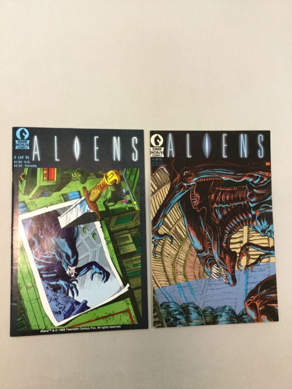 Aliens 2 & 4 First Print 1st Printing Dark Horse Comics 1988 1989
