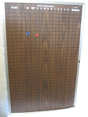 Used Quartet Matrix Inout Board 3x2 Brown Magnetic Track 33 Employees
