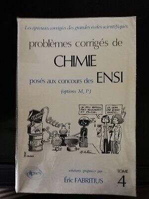 Livre problèmes corrigés de chimie  pour concours ensi