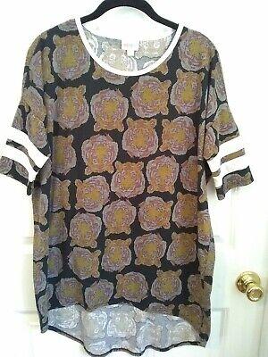 Lularoe Tiger Print Irma Shirt Sport Jersey/Tunic  -