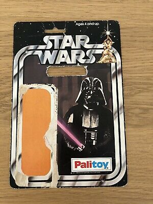 Vintage Star Wars Darth Vader 12 Back Card Back Palitoy