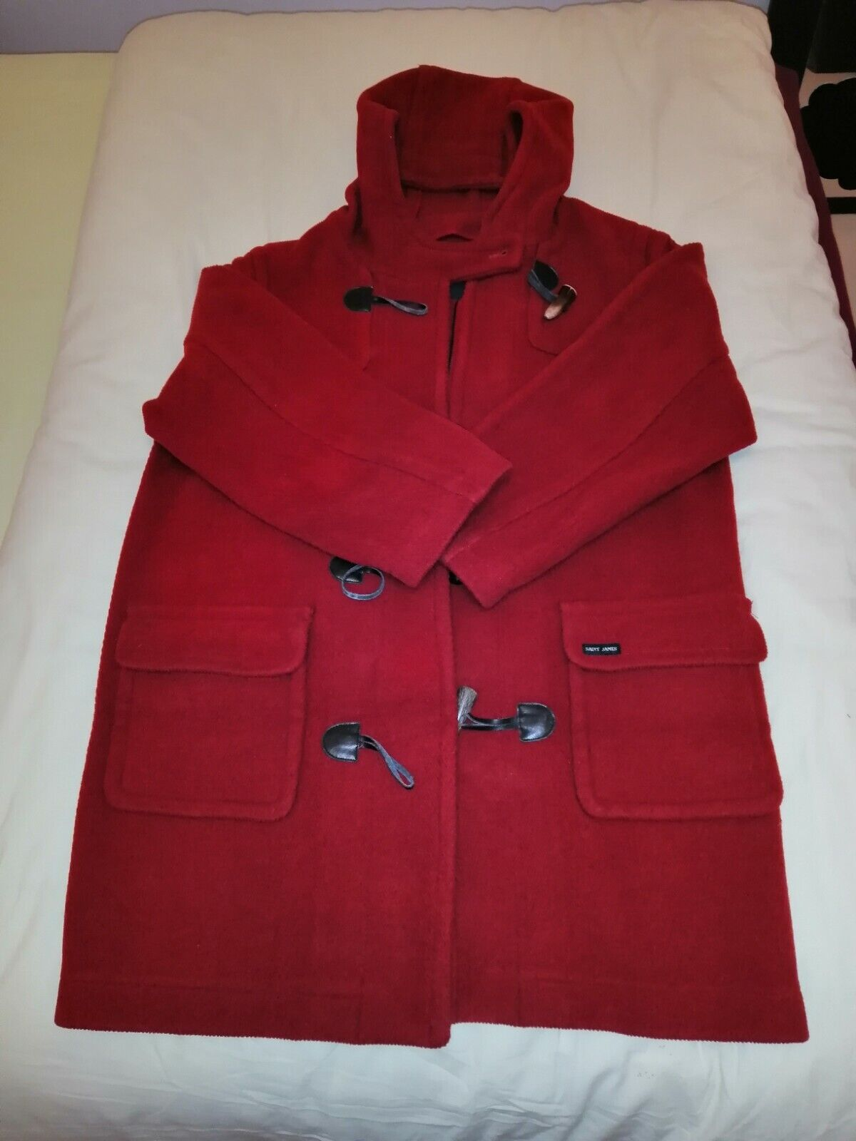 duffle coat saint james rouge femme taille 40