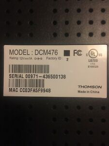 teksavvy thomson model dcm476
