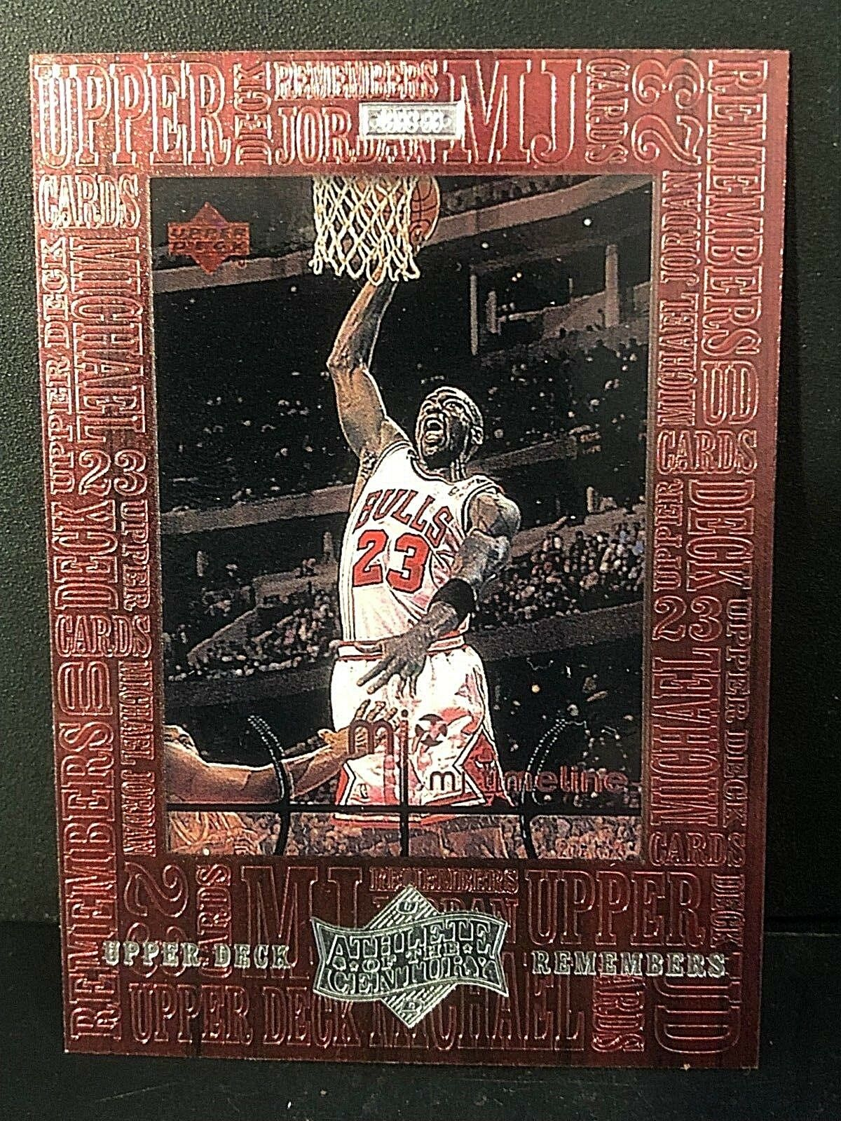 MICHAEL JORDAN 1999 Upper Deck ATHLETE OF THE CENTURY UD Remembers #UD7 BULLS