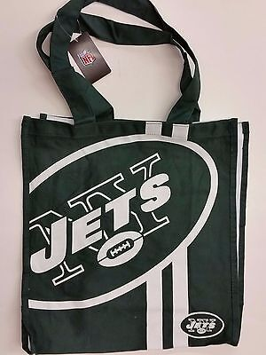 Nfl New York Jets Reusable Canvas Shopping Tote  New