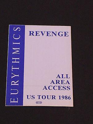 EURYTHMICS Rare ALL AREA ACCESS Satin REVENGE WORLD TOUR