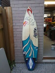 Mick fanning' signed personal board from his 2007 world title quiver Gold Coast Region Preview
