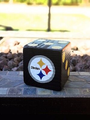 1 Jumbo PITTSBURGH STEELERS Lawn Yard Wood DICE Yahtzee,Bunco,Farkle,Home Decor