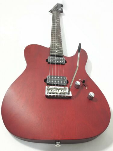 Kapok KA-TLSRD Solid Mahogany Body Electric Guitar,H-H Pickups,Wine-Red+Free Bag