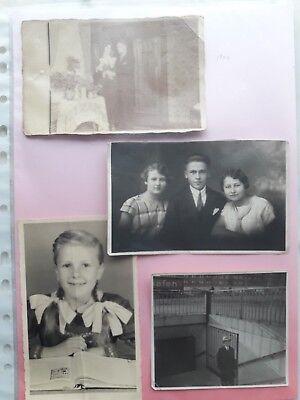 4 Orig. Fotos, Familie, ab 1920, ca. 14 x 9 cm, 10 x 9 cm, 13 x 9 cm