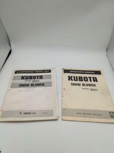 Kubota SB45-F SB52-F Snow Blower Operators Manual And Parts List - $18.00