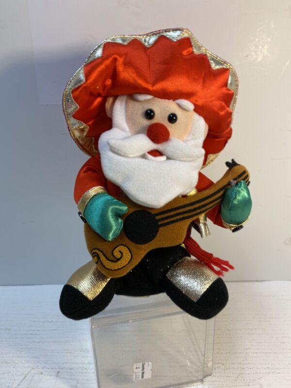 Playtronix Animated SINGING DANCING SANTA CLAUS Plush sing Feliz Navidad
