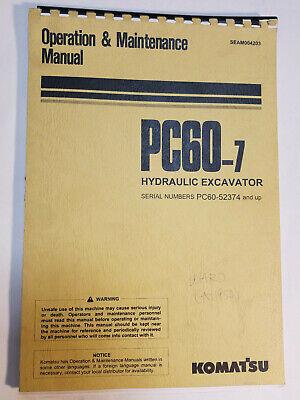 Komatsu Pc60-7 Excavator Operation Maintence Manual Seam004203 52374-up