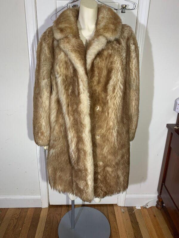Vintage Faux Fur Brown Coat