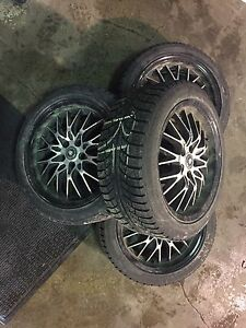 225/45/17 Gislaved Nord-Frost on Konig wheels 500$obo VW/Audi