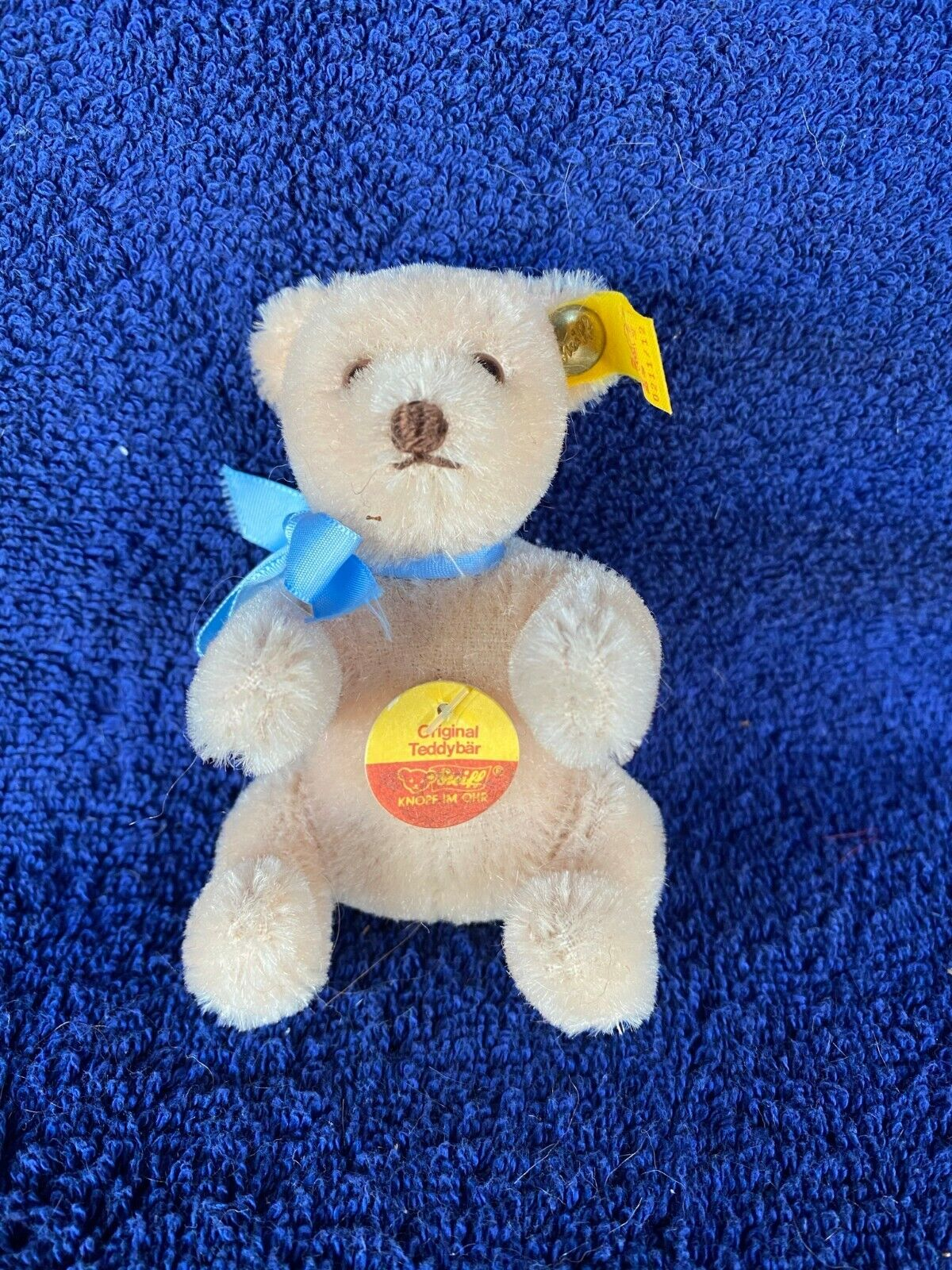 Steiff Mini 3.5 Teddy Bear, 0211/02, W/ Button, Tags - $15.00