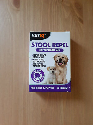 VETIQ Stool Repel Coprophagia Aid For Dogs & Puppies 30 Tablets