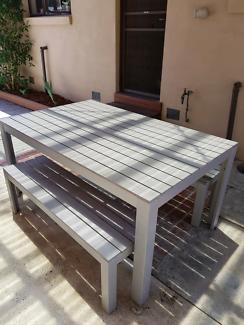 Ikea garden table and benches