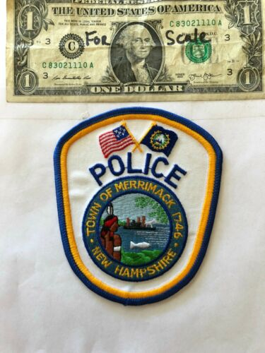 Merrimack New Hampshire Police Patch (town of) un-sewn in mint shape