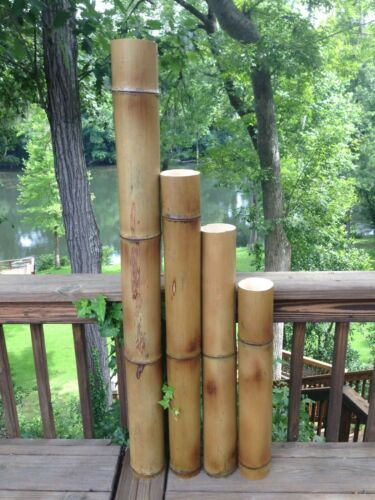 """Giant (4"""" Diam.) Flame Cured Bamboo Poles (Avail. 1"""