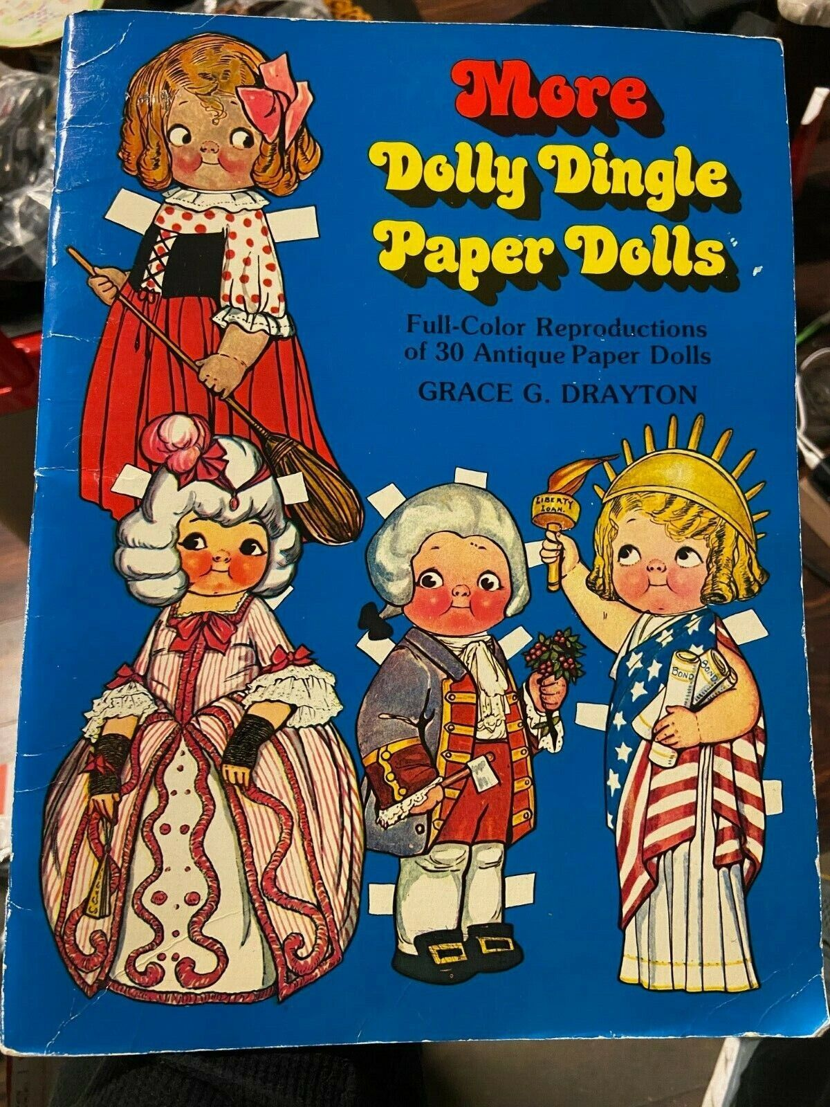 Vintage More Dolly Dingle Paper Dolls Reproduction 30 Paper Dolls Drayton - $5.00