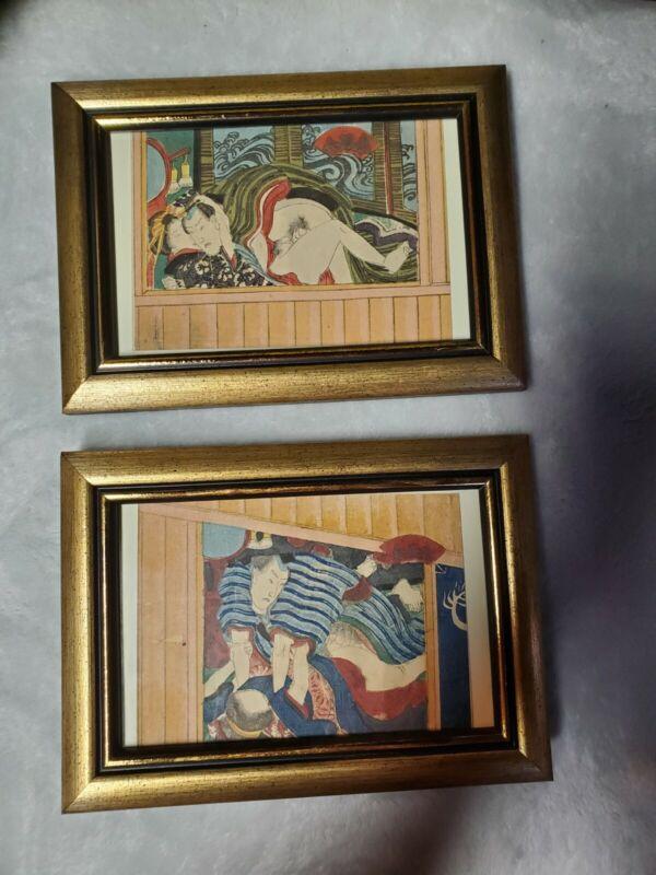 Japanese Woodblock Prints Mid-Century Utagawa School Shunga