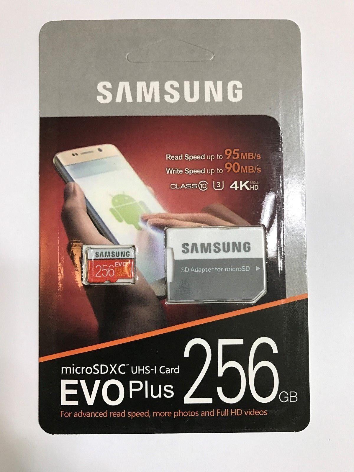 Samsung EVO+ 256 GB microSDXC - Class 10/UHS-I  - 95 MB/s Re