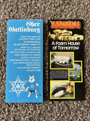 1982 Edition Ober Gatlinburg Tennessee Tourist Pamphlet~Box CPD