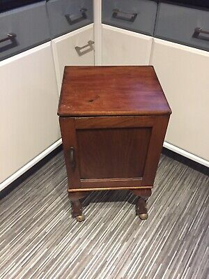 Antique Bed Side / Table Cabinet With Cupboard & ball and claw feet. Mahogany??