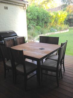 Large dining table with 8 chairs - FREE North Wahroonga Ku-ring-gai Area Preview