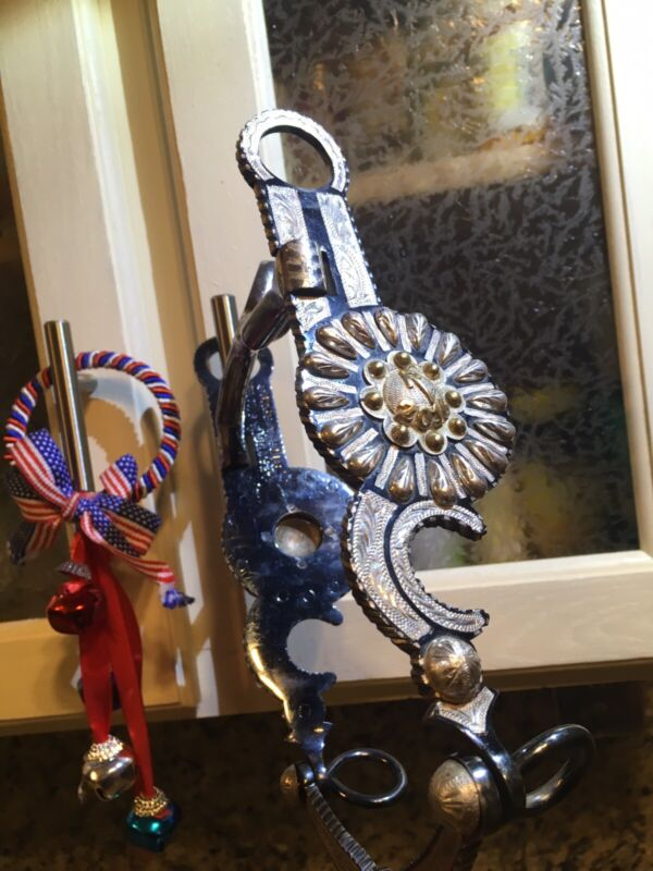 Rancheros Visitadores Sterling  Gold Western Bit with sterling conch Bridle