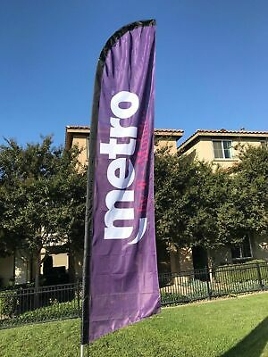 Metro By T Mobile Windless Swooper Flags Banner Complete Kit- On Sale