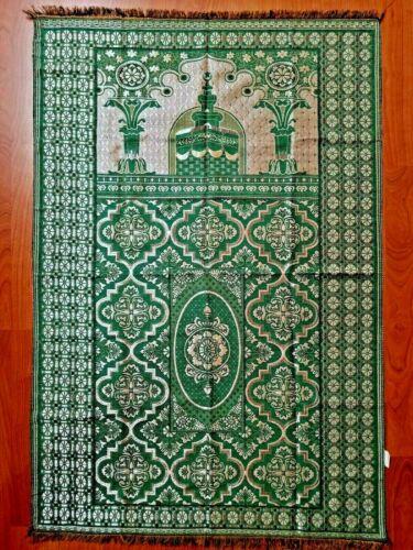 Muslim Travel Mat, Islamic Prayer Rug janamaz Turkish Sajda Mat BestQualiy-GREEN