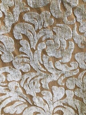 BEIGE BROWN CHENILLE UPHOLSTERY FABRIC (54 in.) Sold By The Yard Brown Chenille Upholstery Fabric