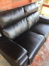 Black Leather Couch PAID $800 yours for $250 barely used Alberton Port Adelaide Area Preview