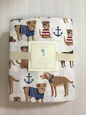 New Pottery Barn Kids Salty Dog Twin Sheet Set Sea Anchor