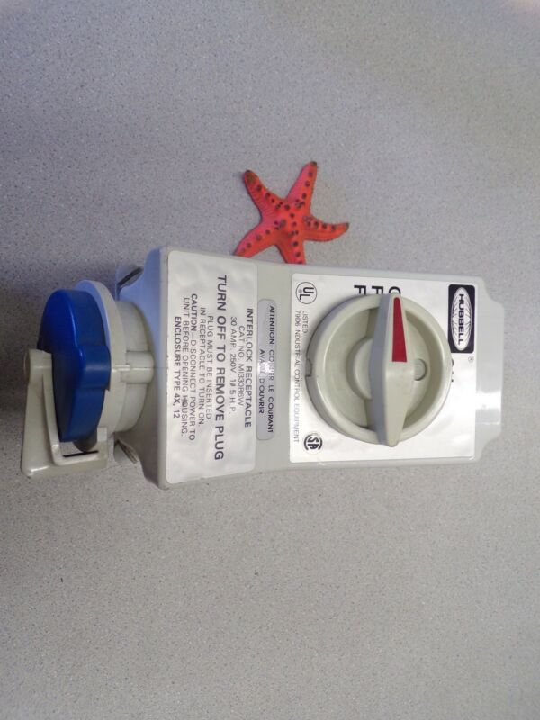 Hubbell, Interlock, Receptacle, M1330R6W *Free Shipping*