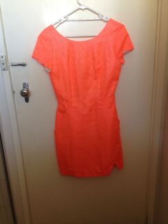 Neon Orange Kookai Dress Peppermint Grove Cottesloe Area Preview